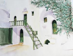 House of a green Greek island